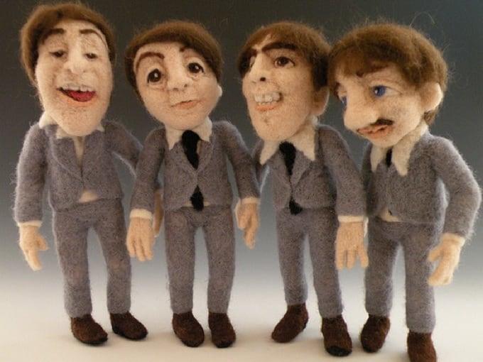 Куклы-звезды из войлока