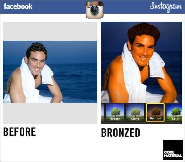 Instagram Filter Parody Bronze