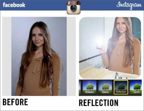 Instagram Filter Parody Reflection
