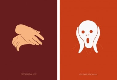 Minimalistic Posters Of Major Art Movements
