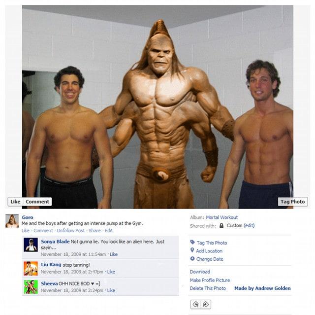 Goro Mortal Kombat Video Game Character Facebook Profiles
