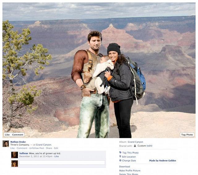 Nathan Drake Video Game Character Facebook Profiles