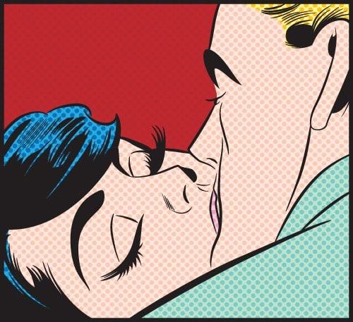 kissing couple 4