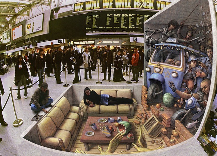 3D Pavement Illusions By Kurt Wenner