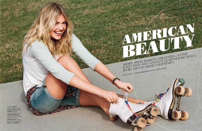 Kate Upton for Elle France 2013