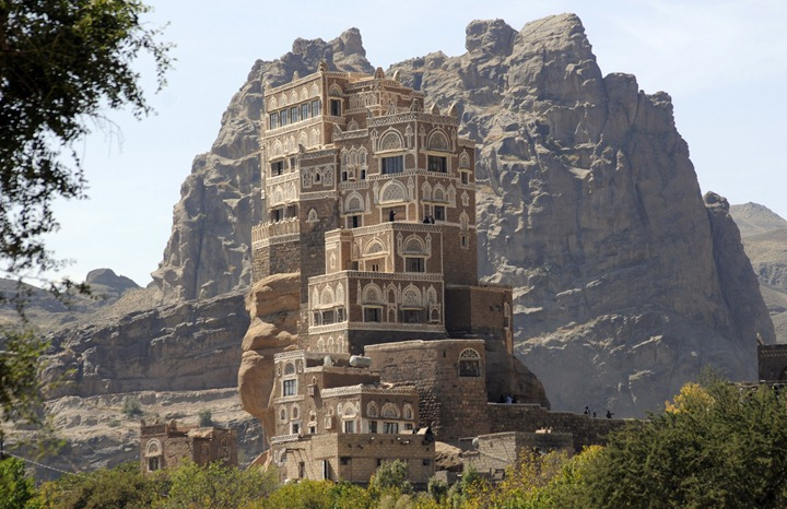 The palace on the rock in Yemen
