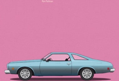 Posters with cars from movies by Jesús Prudencio