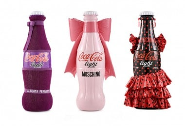 Bottles of Сoca-Cola by fashion designers