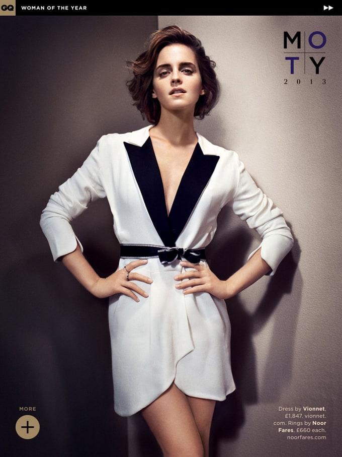 Emma Watson for GQ UK October 2013