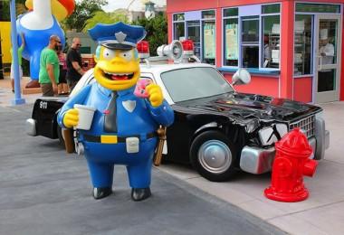 Simpsons park in Universal Studios Orlando 1