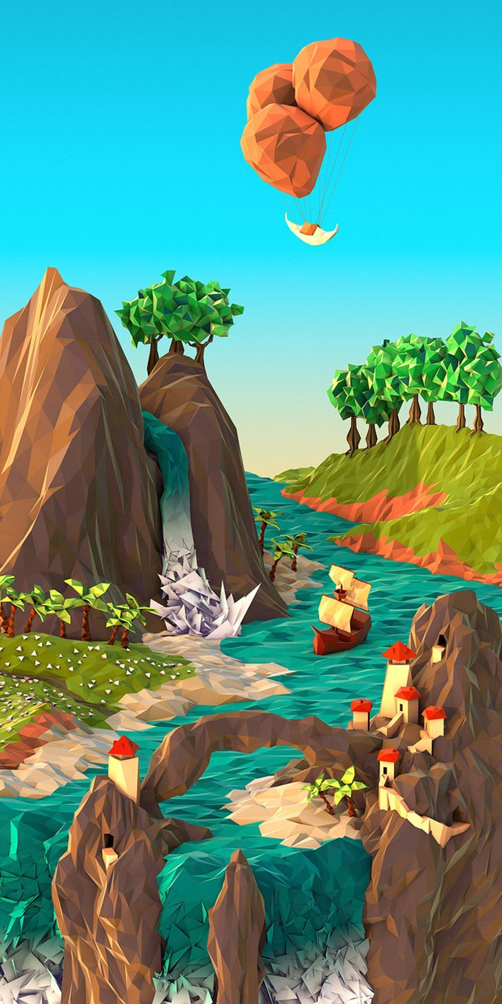 3D Geometric Landscapes by JR Schmidt