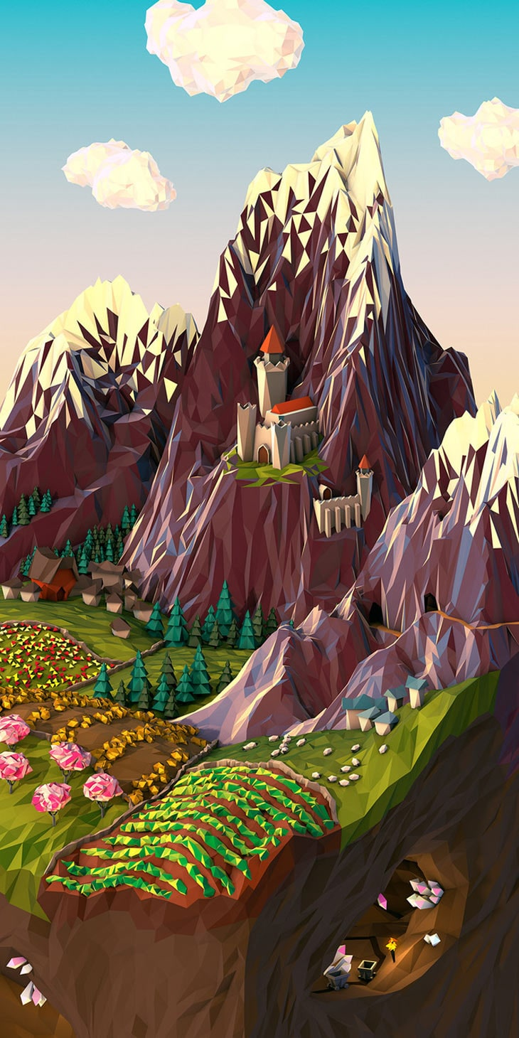 3D Geometric Landscapes by JR Schmidt2