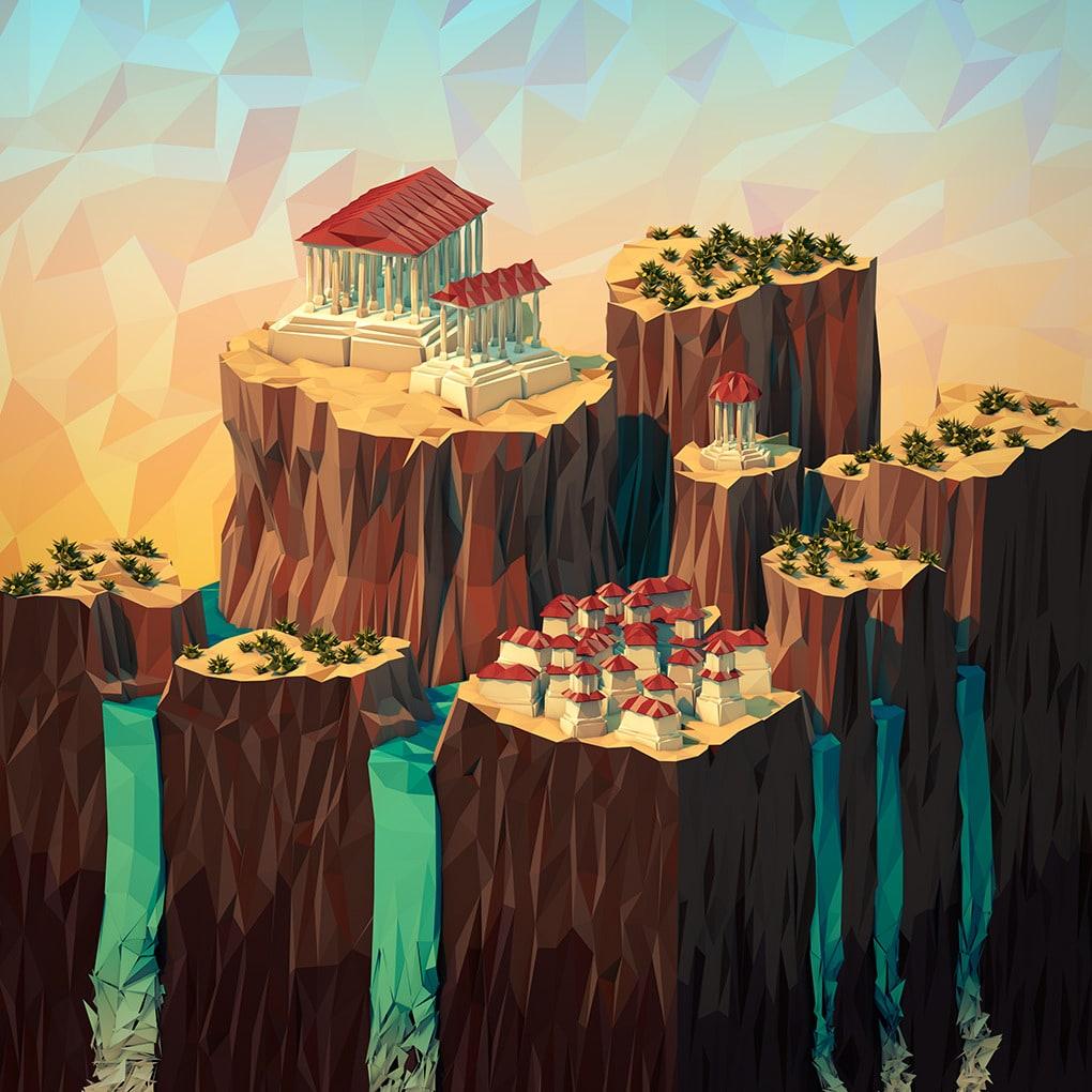 3D Geometric Landscapes by JR Schmidt5