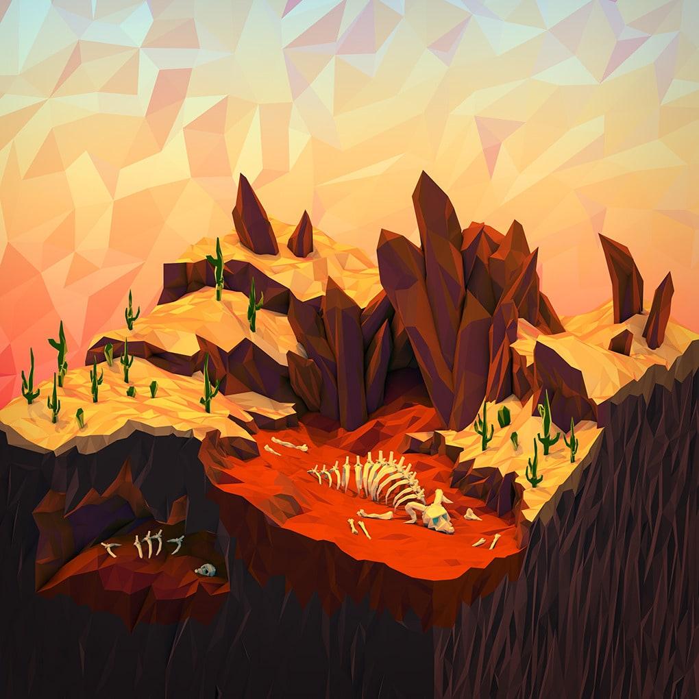 3D Geometric Landscapes by JR Schmidt9