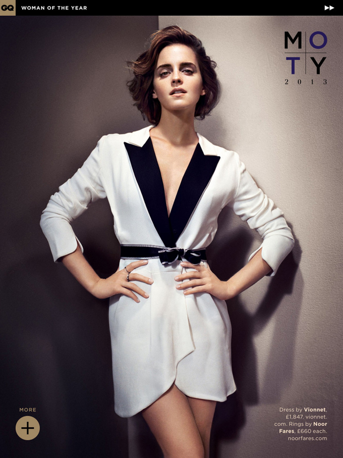 Emma Watson for GQ UK October 2013