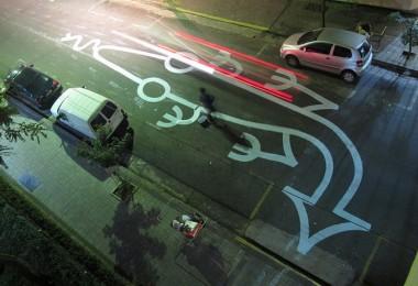 Street artist Tec 1