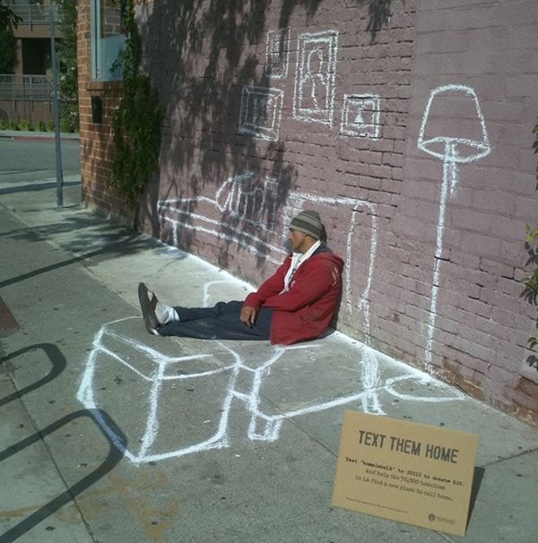 Text Them Home. Street Art Project for the homeless.jpeg