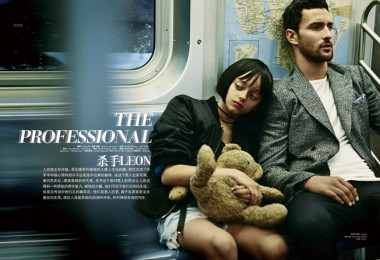 """Leon"" movie in L'Officiel Hommes China 1"