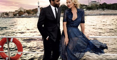 Kate Moss and Chiwetel Ejiofor for Vogue US 1