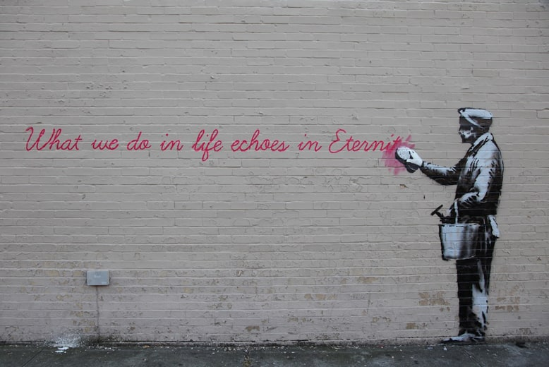 Street-Art-by-Banksy-in-Queens-New-York-USA