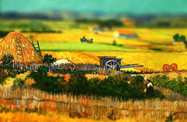 tilt-shift-van-gogh-the-harvest