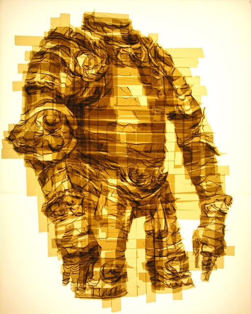 Amazing-Graphic-Arts-Made-With-A-Roll-Of-Packing-Tape-7