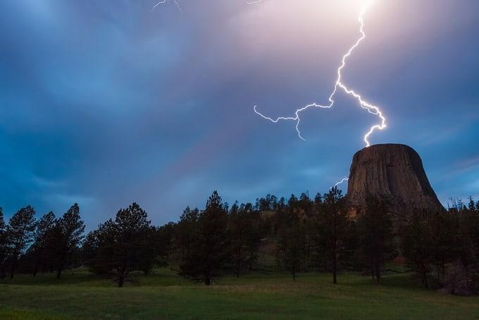 Devils Tower Lightning