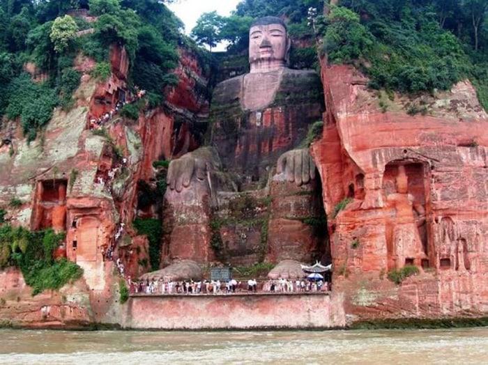 The Leshan Giant Buddha of China