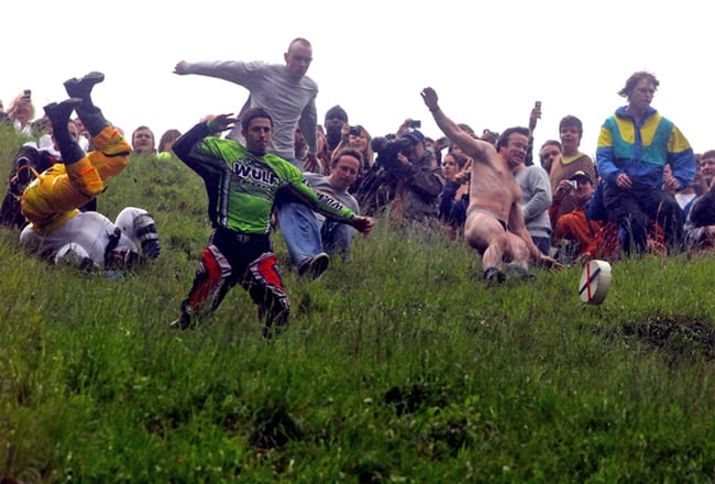 Cooper Hill's Cheese Rolling Festival — Gloucester, England