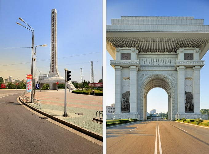 pyong yang - wide clean streets but few cars