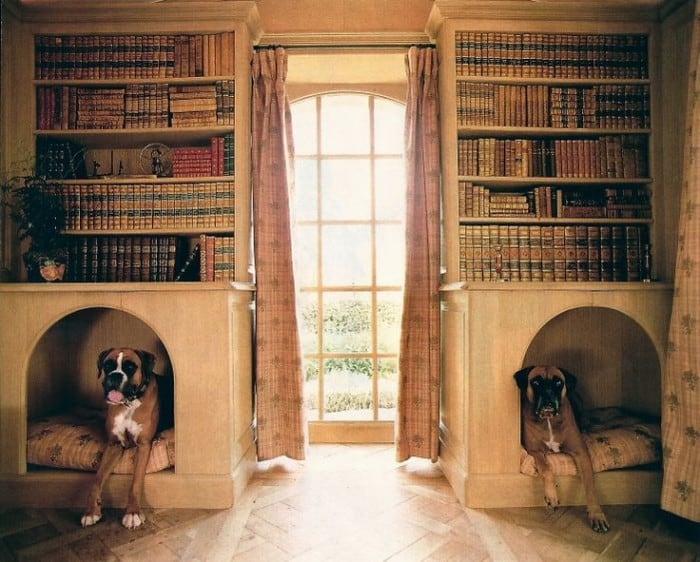 posh dog bedroom