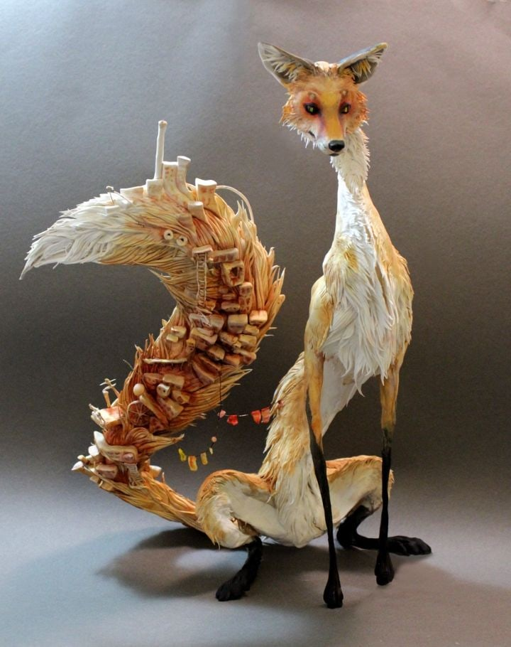 Tall-Fox-with-Village