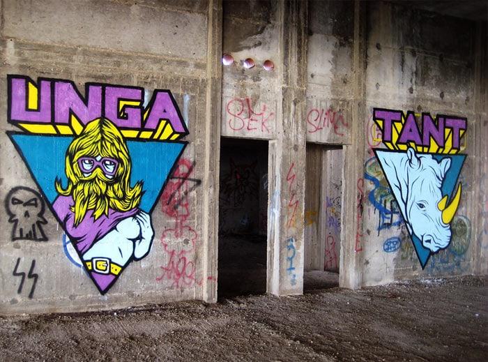 Broken-Fingaz-Crew-Street-Art-Unga-Tant