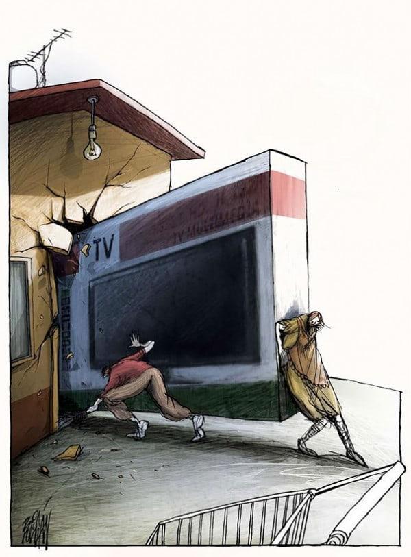Surreal-Contemporary-Cartoons-by-Angel-Boligan-18-600x813
