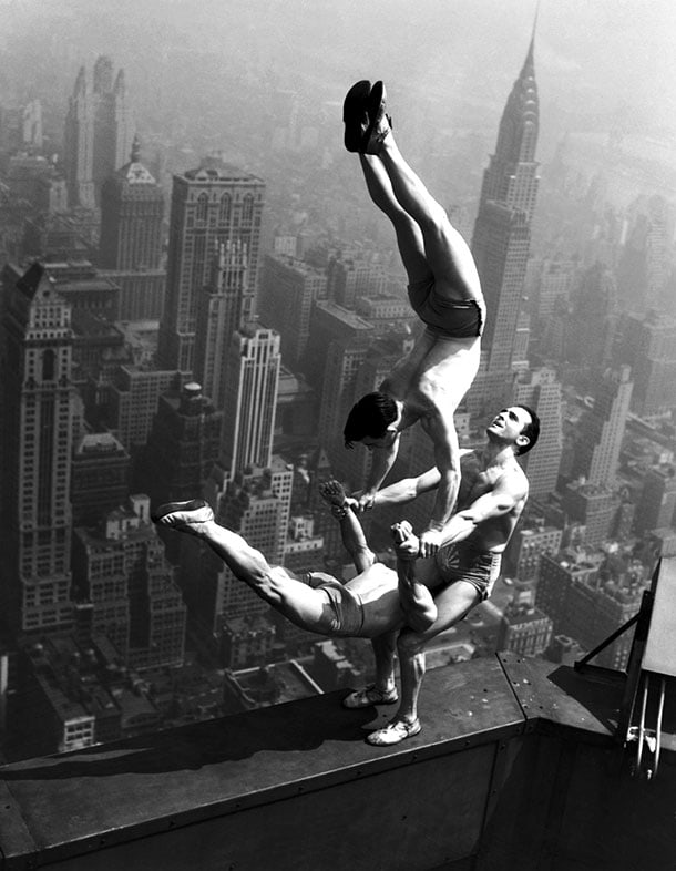 Gymnastics On The Chrysler Building