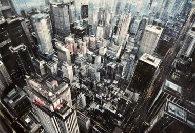 Oil Paintings of Blurred Cityscapes by Valerio D'Ospina