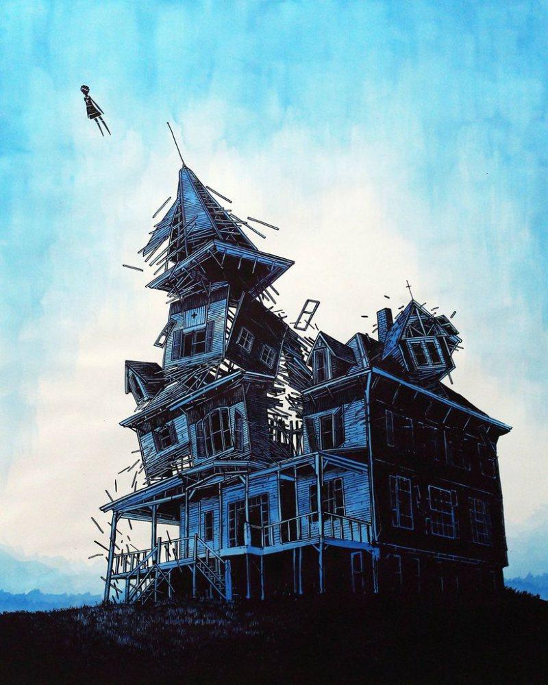 daniel-danger-painting-illustration-printmaking-chicquero-escape
