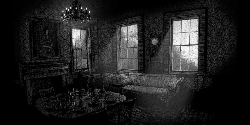 daniel-danger-painting-illustration-printmaking-chicquero-the-room-black-and-white