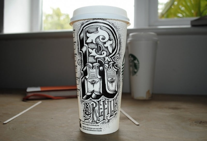 Coffee_Time_Typographic_Art_on_Discarded_Coffee_Cups_by_Rob_Draper_2014_03