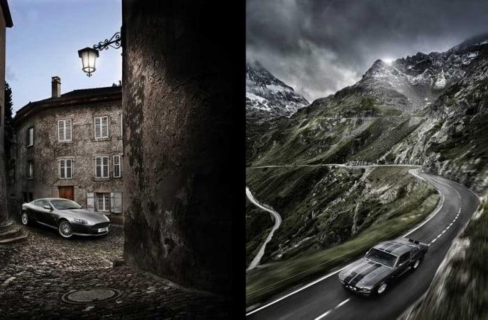 aston martin DB9 car photography