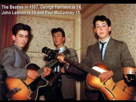 Beatles at the age of 15