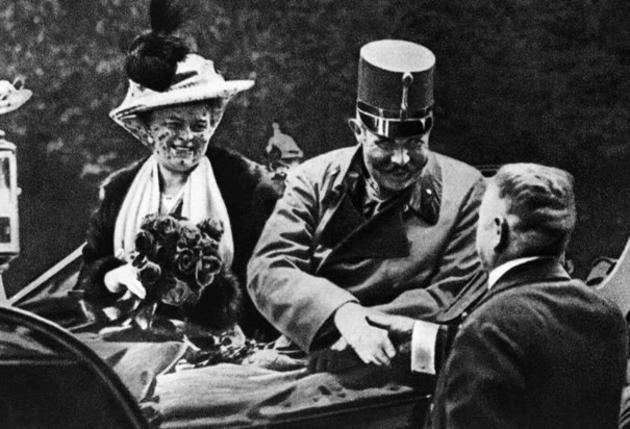 Franz Ferdinand with his wife