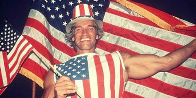 Arnold Schawrzenegger on the day of citizenship