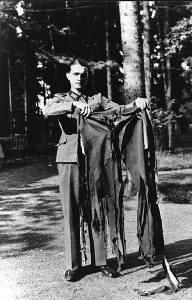Hitlers pants after assasination attempt