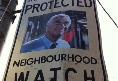 Boring Neighborhood Watch Signs Pimped With Movie And TV Characters