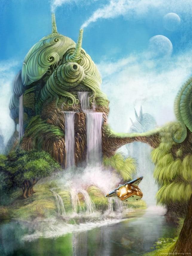 fantasy-island-city-illustration-art-imagination-surreal-alternative-reality-alien-world-643x857