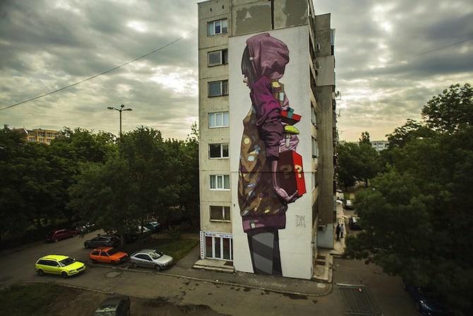graffiti by polish artists Sainer and Bezt