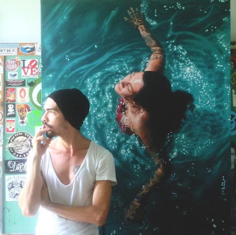 Hyperrealistic_Oil_Paintings_Of_People_Swimming_by_Gustavo_Silva_Nunez_2014_04