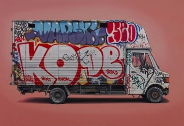 """Right Place, Right Time"" - Van & Vehicle Paintings by Kevin Cyr"
