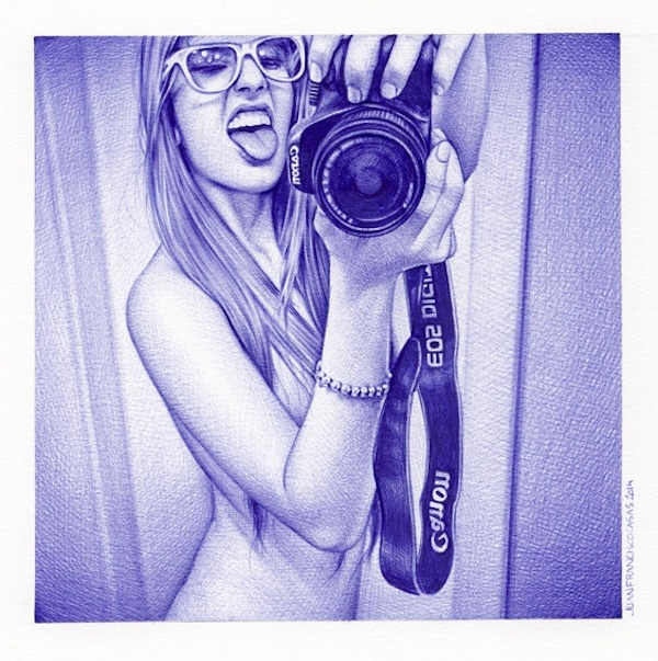 Stranger Than Fiction Hyperrealistic Ballpoint Pen Drawings by Juan Francisco Casas 2014 02 1